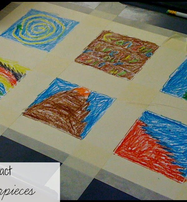 abstract masterpieces art project for kids