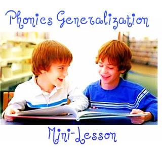 Phonics Generalization Mini-Lesson