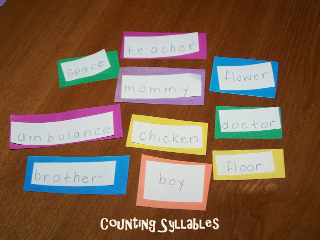 counting segmenting syllables literacy first grade second grade 1st kindergarten science of reading
