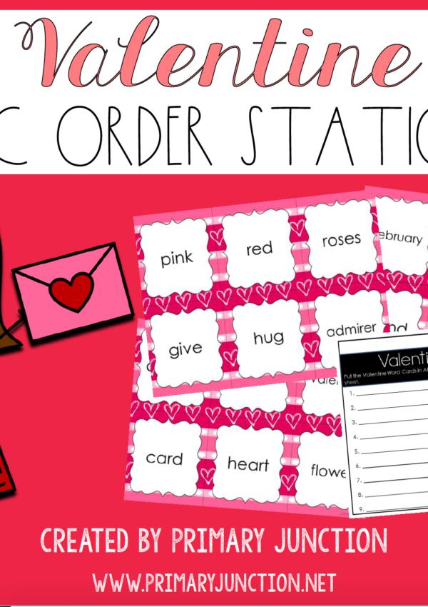 Freebie: Valentine's Day ABC Order Center