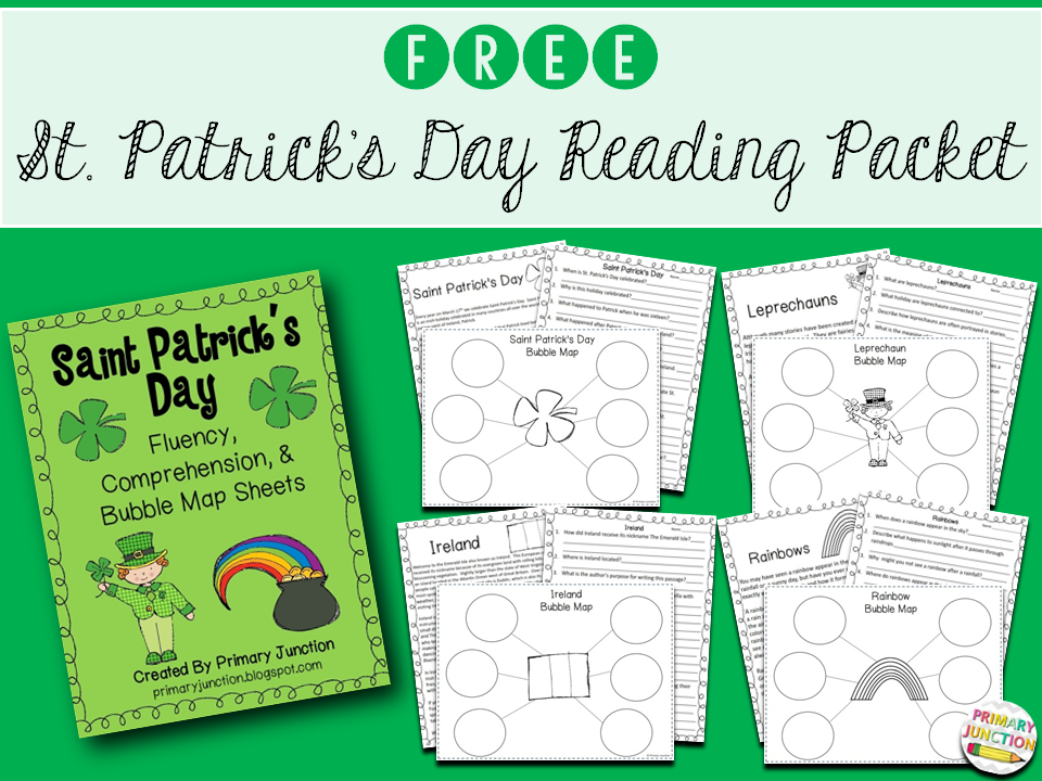 st patrick's day saint reading passages text comprehension questions spring march