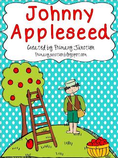 johnny appleseed lesson plan craft unit kindergarten first grade second 1st 2nd literacy math