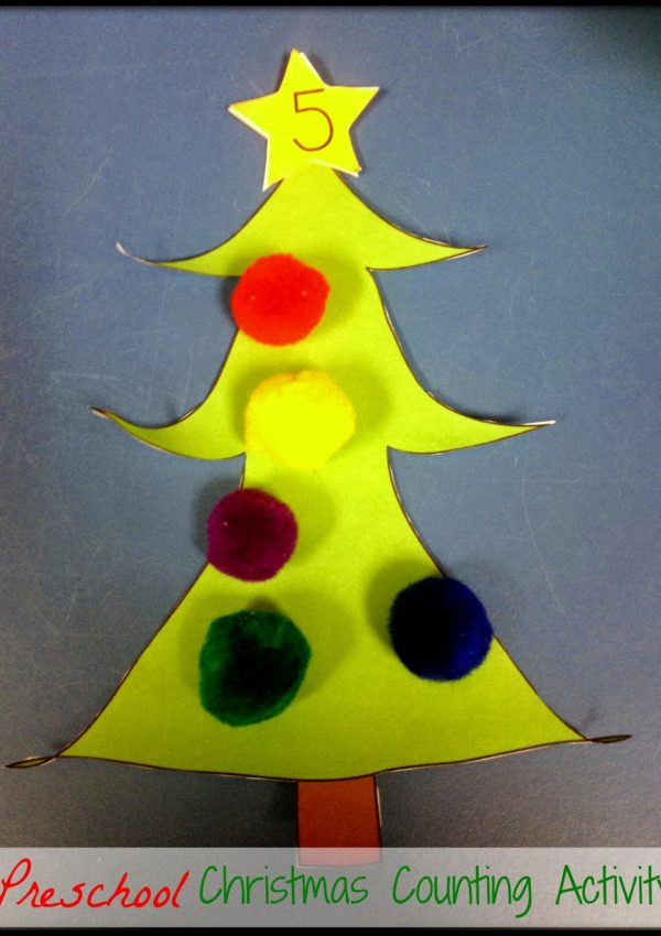 Pre-K Christmas Counting Activity