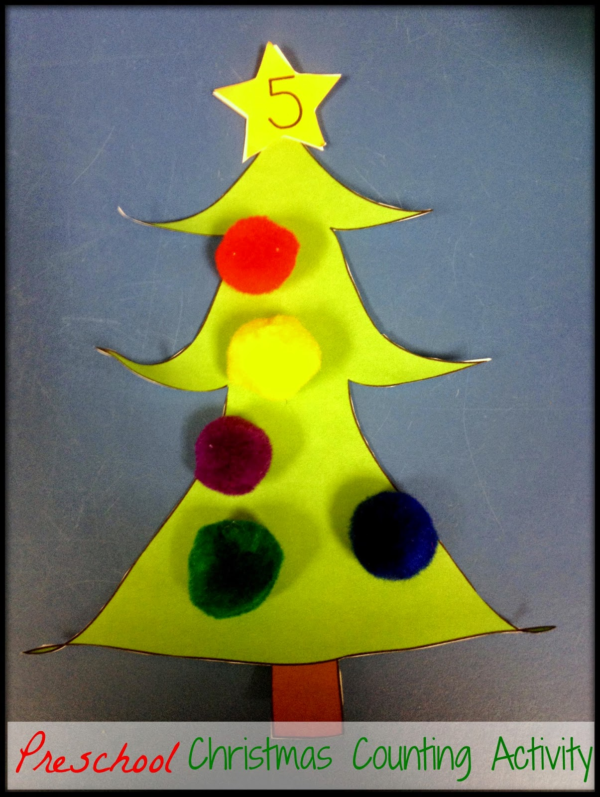 preschool counting activity christmas free math center station pre-k pre-kindergarten one-to-one correspondence