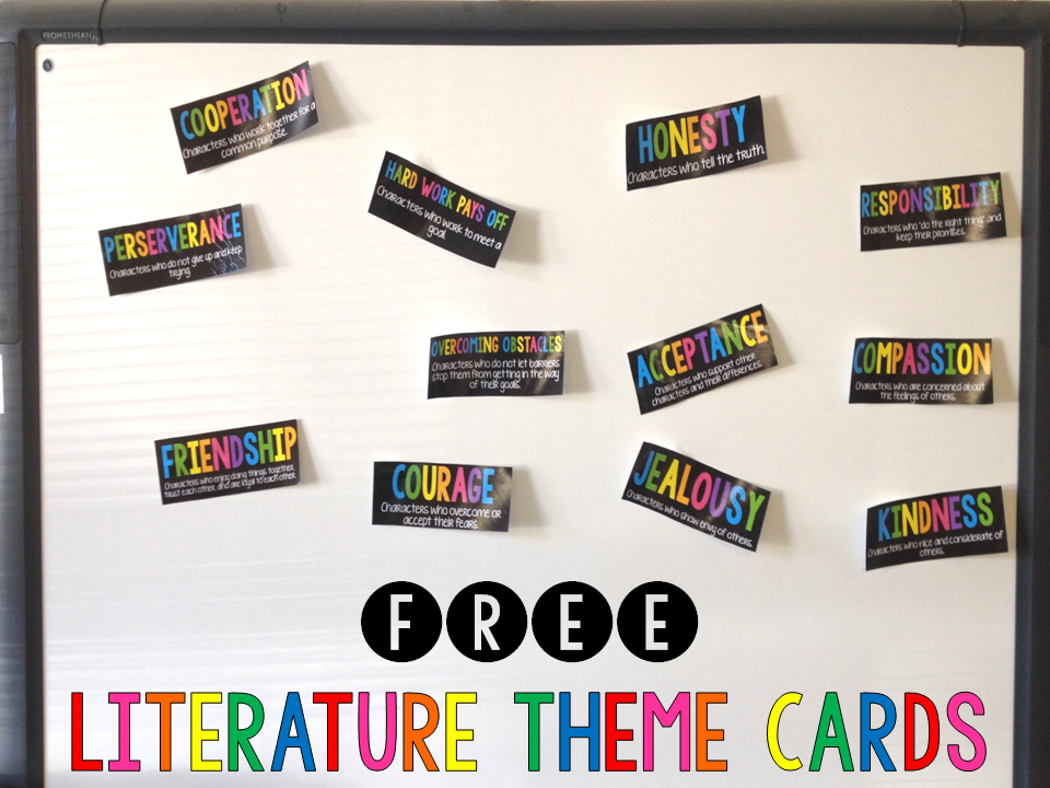 free literature theme cards text literacy finding