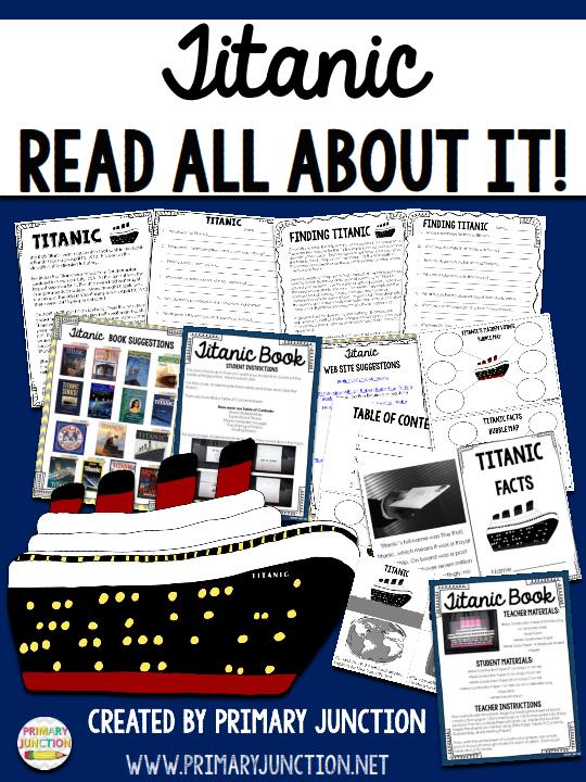 titanic read all about it unit free passage comprehension craft social studies