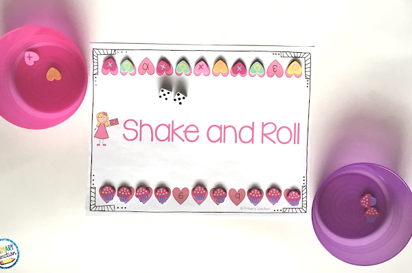 shake and roll dice game addition subtraction math facts math centers stations