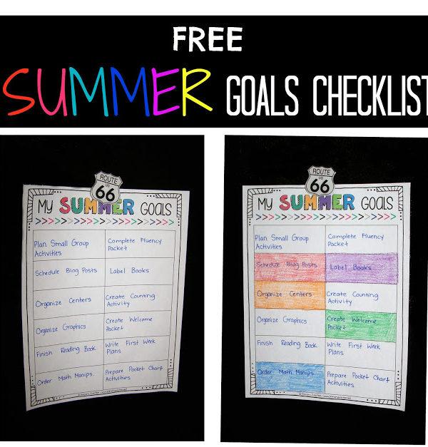 Free Summer Goals Checklist