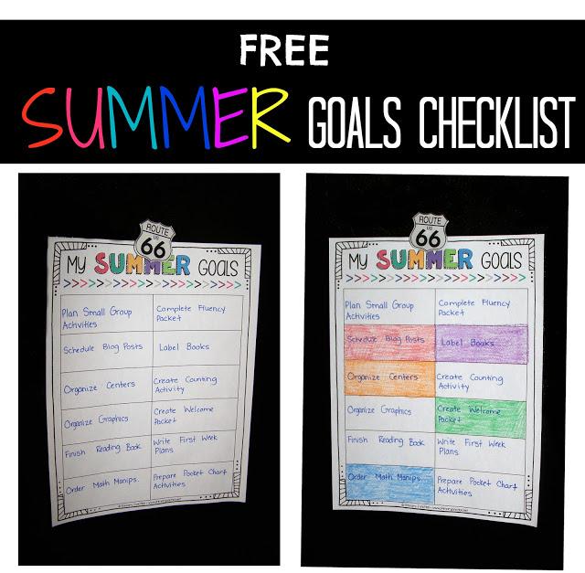 free to do checklist summer goals plan