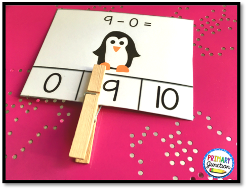 Math Fact Clip Cards: Addition and Subtraction to 10
