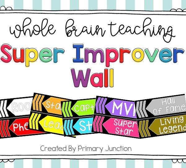 Whole Brain Teaching Super Improver Wall