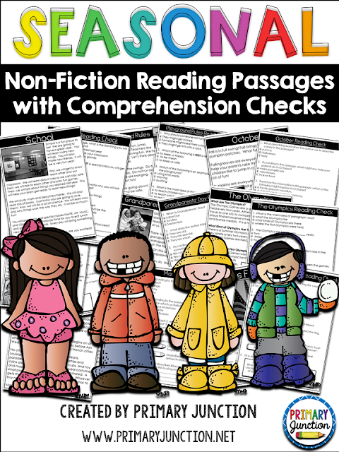 Seasonal Non-Fiction Reading Passages with Comprehension Checks