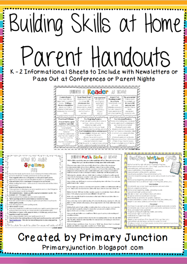Building Skills at Home: SPANISH Parent Handouts
