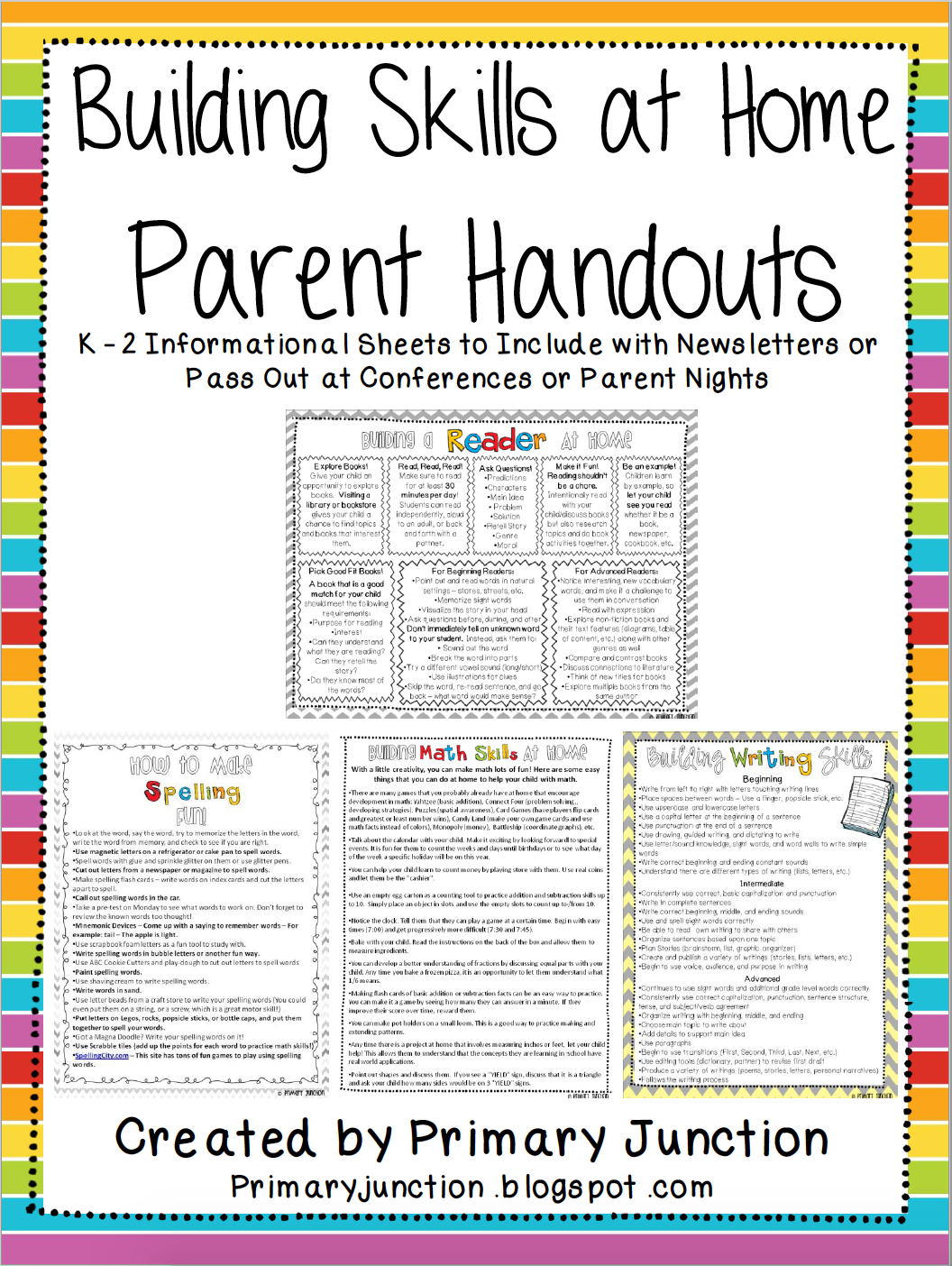 Building Skills at Home Parent Handouts Primary Junction