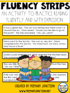 Primary Junction Fluency Strips Literacy Reading Activity Google Slides Seesaw PowerPoint Distance Learning Virtual